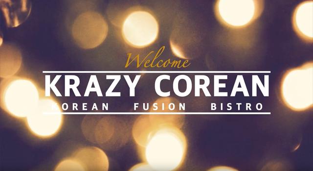 Krazy Corean Korean Fusion Bistro Menu