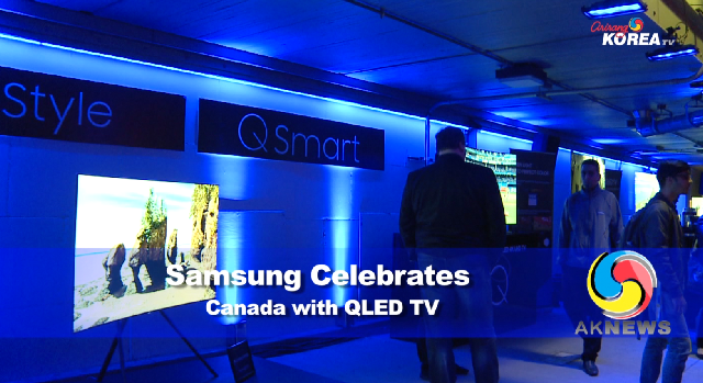 Samsung Celebrates Canada with QLED TV