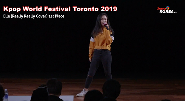 Kpop World Festival Toronto 2019 - Elle (Really Really Cover) 1st Place Vocal
