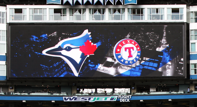 2015 Blue jays VS Texas Rangers